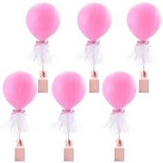 Amazon.com: Pink Tulle Balloons Tutu Balloon with Box Base Centerpieces for Baby Shower Girl Birthday Party Wedding Cake Table Decorations ,12 Inch Balloon White Tulle Cover, 6 Pack: Toys & Games Tutu Party Decorations, Wedding Cake Table Decorations, Party Table Centerpieces, Girl Baby Shower Decorations, Balloon Centerpieces, Baby Shower Centerpieces, Princess Party Centerpieces, Tulle Balloons, Baby Shower Balloons