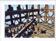 Sears-13, Setting steel from the derrick floor