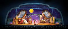 Mickey and the Magician #show #disney #disneyland #artistimpression #conceptart #concept #art