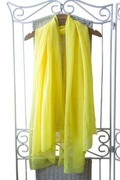 Yellow ethereal shawl by VintageVanillaShop on Etsy, zł130.00