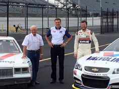 With Ray Evernham and Cale Yarborough with throw back Valvoline paint scheme for Darlington