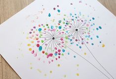 Creative with children. A dandelion is created easily and . Eine Pusteblume entsteht ganz einfach und schnell Creative with children. A dandelion is created easily and quickly - Fingerprint Crafts, Easy Drawing Tutorial, Diy Crafts To Do, Presents For Her, Toys Shop, Dandelion, Stuff To Do, Alice, Favorite Color