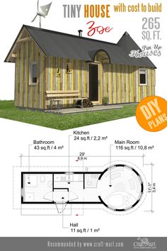 Awesome Small Home Plans for Low DIY Budget, Woodworking, Cabin House Plans, Small House Plans, House Floor Plans, Easy Wood Projects, Easy Woodworking Projects, Project Ideas, Unique Woodworking, Earthship Home, Tiny House Trailer