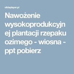 Nawożenie wysokoprodukcyjnej plantacji rzepaku ozimego - wiosna -  ppt pobierz