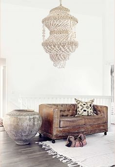 .Love the global ethnic vibe in this livingroom
