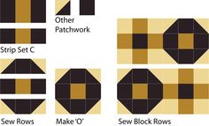 No matter whether you're a beginning or experienced quilter, I think you'll have fun with the Tile Puzzle quilt block pattern.: Make 'O' Units for the Tile Puzzle Quilt Block