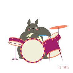 Australian graphic designer CL Terry, presented us Totoro, heroe of the Hayao Miyazaki's masterpiece, My Neighbor Totoro, making fitness fitness. In new GIFs Nocturne, Walking Gif, Walking Dead, Manga Anime, Kawaii, My Neighbor Totoro, We Bare Bears, Animation, Hayao Miyazaki