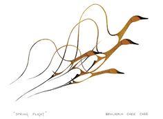 Benjamin Chee Chee -1000 x 732 - Spring Flight - aboutcanada.ca