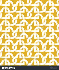 #Abstract repeatable pattern #background of white twisted strips on gold. Swatch of intertwined hearts for Valentine's day gift wrapping design.