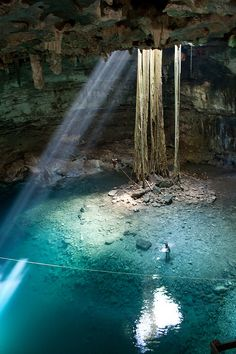 Beautiful pool of Cenote Samula, Yucatan Peninsula, Mexico (by grzegorzmielczarek).