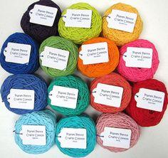 Planet Penny Crafty Cotton by PlanetPennyUK on Etsy, $32.00  14 rainbow shades - 25gm balls