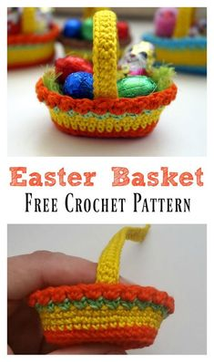 Crochet Gift Patterns Lots of Crochet Easter Basket Free Patterns by maryann maltby - There are so many crochet Easter Basket patterns out there, we've compiled a list of wonderful Crochet Easter Basket Free Patterns to share with you. Holiday Crochet, Crochet Gifts, Crochet Toys, Free Crochet, Crochet Baskets, Easter Crochet Patterns, Crochet Easter, Easter Crafts, Bunny Crafts
