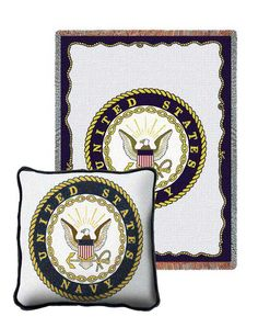 Navy Tapestry Pillow and Throw Set - Buy at Snugglebug Pillows and Throws www.snugglebugpillowsandthrows.com