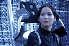 New Catching Fire still- Katniss in hovercraft on her way to arena.