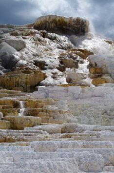 Mammoth Hot Springs, from our blog post: Trekking the National Parks, Yellowstone Part 2!   Www.teamwanderlustfl.com