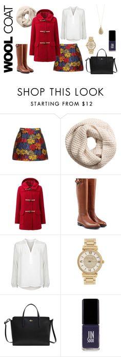 """Autumn in Bloom"" by kristenleighw ❤ liked on Polyvore featuring Alice + Olivia, H&M, Uniqlo, Burberry, Diane Von Furstenberg, Michael Kors, Lacoste, Jin Soon, Karen Kane and Color"