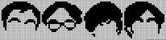 Big Band Theory characters perler bead pattern