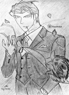 Asami Ryuichi, yaoi, manga, sketch, drawing, fanart