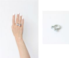 ring made from  tiny bow-shackles from the hardware store
