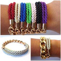 Silk Rope Bracelet via Etsy