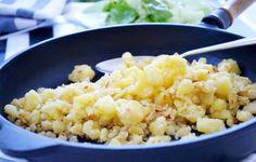 Verheirateter Sterz ist in ganz Österreich beliebt, aber vor allem in Kärnten wird dieses Rezept gerne verwendet. Wiener Schnitzel, Austrian Recipes, Frittata, Polenta, Street Food, Risotto, Food And Drink, Pasta, Meals