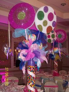 Candy Land themed sweet 16- wow! Get the table supplies starting at $1.50 from tableskirtsandmore.com