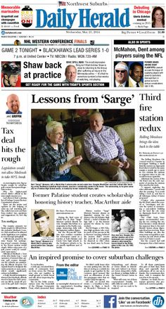 Daily Herald front page, May 21, 2014; http://eedition.dailyherald.com/