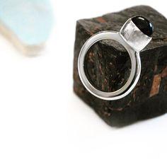 black star diopside sterling silver ring by Glacier Jewellery Design