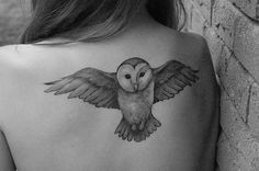 Owl tattoo for both my love of owls and Harry Potter? -- YES.