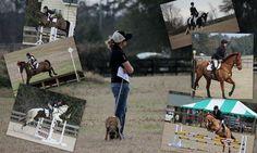 Molly Rosin and students at Paradise Horse Trials
