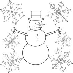 snowflake coloring pages free online printable coloring pages, sheets for kids. Get the latest free snowflake coloring pages images, favorite coloring pages to print online by ONLY COLORING PAGES. Snowflake Coloring Pages, Snowman Coloring Pages, Coloring Pages Winter, Preschool Coloring Pages, Christmas Coloring Pages, Coloring Pages To Print, Free Printable Coloring Pages, Coloring For Kids, Coloring Sheets