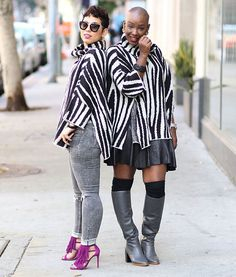 """""""NEW BLOG POST (link in bio)  @Zara zebra pullover styled two ways  Outfit details and links on the blog.  TiekoandMimi.com"""""""