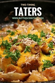 Have some leftover potatoes (aka taters)? Use our potato recipe to turn them into a new, filling, cheesy savory side dish. Economical, fast and easy.