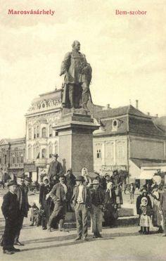 Marosvásárhely:Bem szobor,1908-ban.. Bucharest Romania, Budapest, Movie Posters, Painting, Cards, Film Poster, Popcorn Posters, Painting Art, Paintings