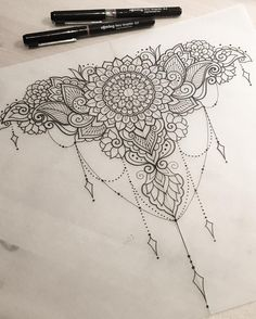 "Gefällt 769 Mal, 10 Kommentare - Dominique Holmes (@domholmestattoo) auf Instagram: ""Decorative piece for Tasha  #art #design #penandink #handdrawn #sketch #instafineliner #mehndi…"""