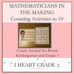 This activity is a perfect way to introduce, practice, and/or reinforce your students counting skills. Teaching Math, Math Math, Math Fractions, Math Games, Maths, Creative Teaching, Special Education Classroom, Math Education, Third Grade Math