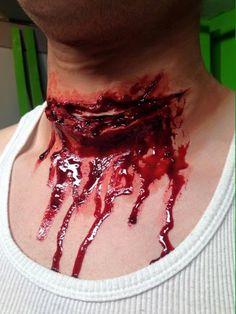 Items similar to Sliced neck/Large wound prosthetic piece on Etsy Creepy Halloween, Halloween Kostüm, Halloween Cosplay, Halloween Latex Makeup, Halloween Costumes, Halloween Activities, Horror Makeup, Scary Makeup, Sfx Makeup