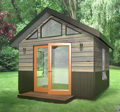 Studio Shed creates high-efficiency prefabricated backyard buildings. Design and build your own modern studio or home office with our Configurator tool. Build A Shed Kit, Build Your Own Shed, Shed Building Plans, Diy Shed Plans, Shed Kits, Building A Deck, Building Design, Backyard Office, Backyard Studio