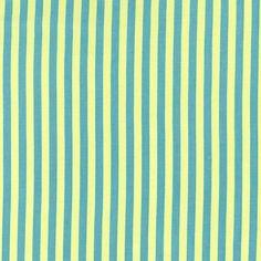 Michael Miller - Clown Stripe Lagoon cotton fabric