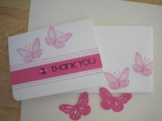 Thank you cards set by lilaccottagecards on Etsy, $8.75