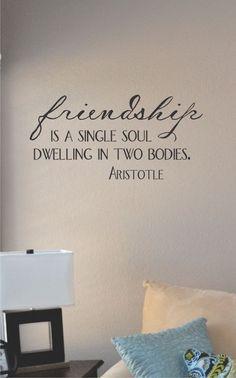 Slap-Art™ Friendship is a single soul by VinylMasterpieces on Etsy