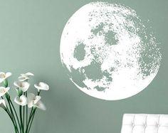 Maan Decal - maan Home Decor Sticker - maan kleur voor Decor van het huis - SKU:MOONWDEC aanpassen