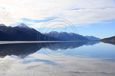 Reflection of the Chugach mountains.