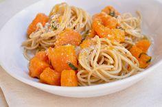 Spaghetti cu dovleac și salvie Ethnic Recipes, Food, Essen, Meals, Yemek, Eten