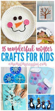 15 Wonderful Winter Kids Crafts Ideas