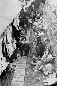 France, 9/1941, A concentration camp of German Jews. The French police helped the Nazi's round up Jewish families,no matter what nationality that lived in France. The Jews then were shipped to a death camp