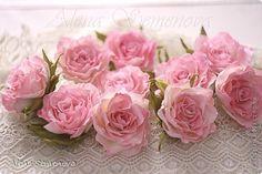Украшение Лепка Мои цветы из глины и фоамирана для украшения прически Глина Фоамиран фом фото 1