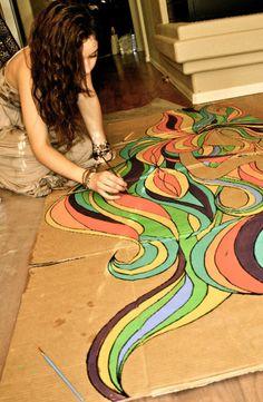 Cardboard painting