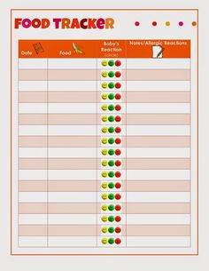 Baby Tracker and Record Notebook for Girls – Kirsten Thompson – Homemade baby foods Baby First Food Chart, Baby First Foods, Baby Finger Foods, Baby Solid Food, Food Tracking, Baby Feeding Chart, Solids For Baby, Food Charts, Homemade Baby Foods