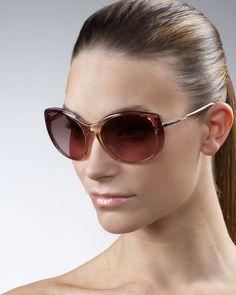 36314f3e0e5e like   Oversized Square Leather Logo Sunglasses by Tory Burch at Bergdorf  Goodman. Prada Sunglasses